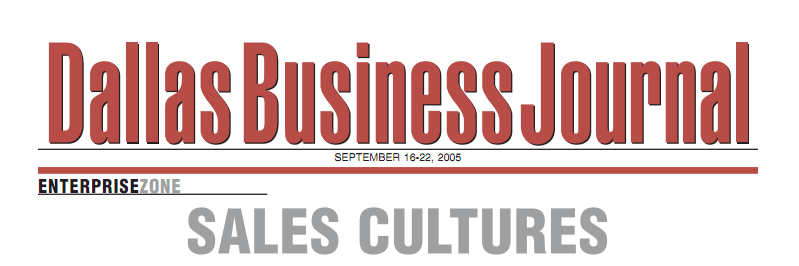 Sales Cultures by Arlene Johnson for the Dallas Business Journal