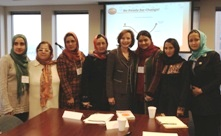 World Affairs Council DFW and Arlene Johnson consulting with Afghanistan business women